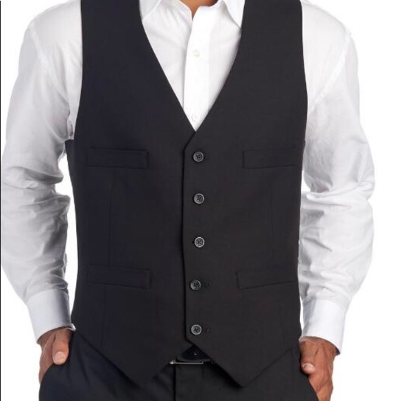 Murano Men's Essentials Suit Piece Black Vest